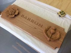 Barron piece Woodcarving, Bamboo Cutting Board, Handmade, Hand Made, Wood Carvings, Tree Carving, Craft, Wood Carving