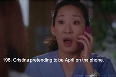 Cristina pretending to be April is one of the funniest scenes ever!!