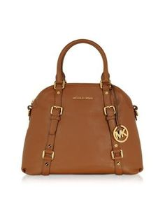 b6a9dfc8ad4d Michael Kors Bedford Genuine Leather Bowling Satchel Bag Michael Kors  Bedford