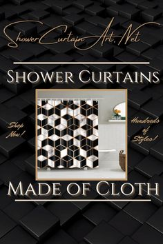 Drastically enhance your bathroom decor with a soft & stylish fabric shower curtain from Shower Curtain Art. Shower Curtain Art, Modern Shower Curtains, Fabric Shower Curtains, Bathroom Shower Curtains, Bathroom Fixtures, Modern Bathroom Design, Bathroom Interior Design, Man Cave Bathroom, Marble Showers