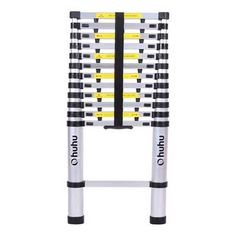 Ohuhu 12 ft Aluminum Telescopic Extension Ladder, Certified Extendable Telescoping Ladder with Spring Loaded Locking Mechanism Non-slip Ribbing 330 Pound Capacity Aluminium Ladder, Aluminium Alloy, Portable Ladder, Multi Purpose Ladder, Best Ladder, Book Racks, You Are Awesome, Telescope