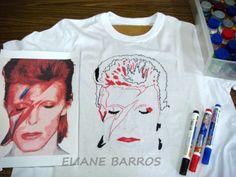 pintura em tecido, início, por Eliane barros