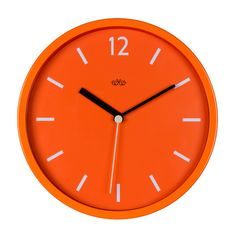 Goldfish Orange Wall Clock ($37) ❤ liked on Polyvore featuring home, home decor, clocks, orange home decor, orange clock, wildwood, english home decor and orange home accessories
