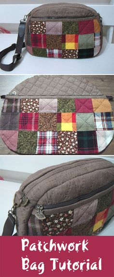 Patchwork Bag Tutorial. Fast and easy tiny patchwork Sew Together Bag. Сумка печворк. http://www.handmadiya.com/2015/08/patchwork-bag-tutorial.html