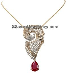 Jewellery Designs: Diamond Pendants Gallery by TBZ Jewellery
