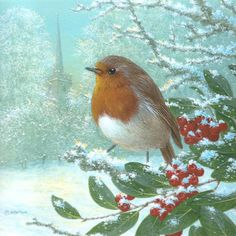 Leading Illustration & Publishing Agency based in London, New York & Marbella. Robin Redbreast, Robin Bird, Winter Scenery, British Wildlife, Royal Air Force, Winter Art, Ceramic Design, New Artists, Habitats