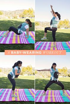 a baby-wearing workout - Mode 2019 Post Baby Workout, Mommy Workout, Pregnancy Workout, Body After Baby, Post Baby Body, Mom And Baby Yoga, Prenatal Yoga, Fit Board Workouts, I Work Out