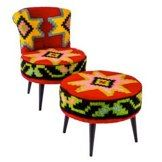 mini fauteuil bas launge kilim vintage pi ces uniques rock the kasbah mini fauteuil. Black Bedroom Furniture Sets. Home Design Ideas