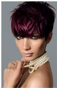 Image Search Results for burgundy short hair