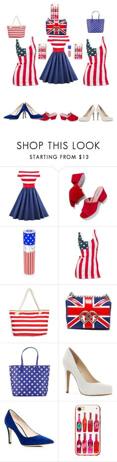 """""""me and my girls on the 4th of July"""" by hollysisther4life ❤ liked on Polyvore featuring beauty, Steve Madden, House of Sillage, Dsquared2, Armani Jeans, Jessica Simpson, Giorgio Armani and Kate Spade"""