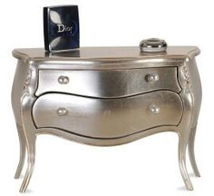 LuxTouch Vintage Furniture & Decor ~ With Louise May Heath... Matallic painted chest of drawers