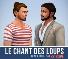 Simsontherope: Le Chant des Loups – two new hairstyles • Sims 4 Downloads