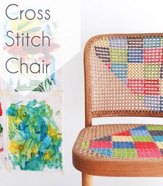 How To Cross Stitch Chair - DECOmyplace - Home decorating ideas, Interior styling