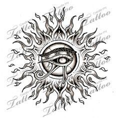Marketplace Tattoo Horus Eye Sun #6222 | CreateMyTattoo.com