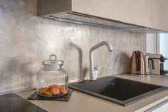 Risultati immagini per rivestimento cucina cemento resina Decor, Home Decor, Sink