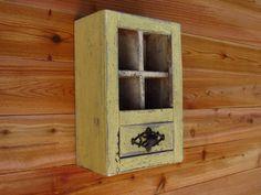Yellow Shabby Chic Style Wall Shelf by farmhousefurnituretx