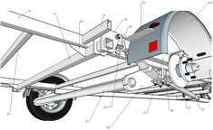 Motorcycle Trailer, Bike Trailer, Utility Trailer, Welding Trailer, Welding Trucks, Car Hauler Trailer, Trailer Plans, Trailer Suspension, Off Road Trailer