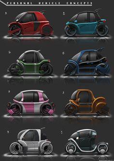 Personal Vehicles Concepts, Benjamin Tan on ArtStation at https://www.artstation.com/artwork/19ze