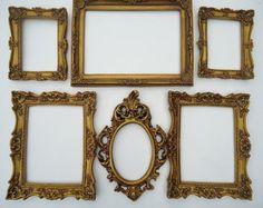 Kit Provence/porta retrato/ouro velho