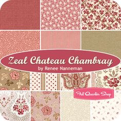 Zeal Chateau Chambray Fat Quarter Bundle Renee Nanneman for Andover Fabrics