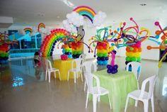 arreglos con globos para fiestas columnas