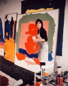 "ABSTRACT on Instagram: ""Helen Frankenthaler. Follow @repaint.history"" Helen Frankenthaler, Atelier Photo, Picasso Paintings, Oil Paintings, Cy Twombly, Henri Matisse, Art Studios, Artist At Work, Oeuvre D'art"