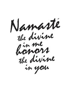 Namaste Print by coldcupoftea on Etsy