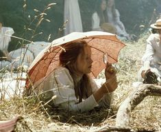 Cover image Miranda under umbrella Picnic At Hanging Rock, In Another Life, Princess Aesthetic, Book Aesthetic, Film Stills, Dream Life, Daydream, Ethereal, Art Reference