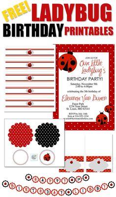 FREE LADYBUG BIRTHDAY PRINTABLES