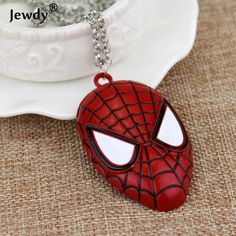 New America Moive Super Hero Spiderman Pendant Chain Metal Necklace Fashion Boy Man Kid Party Favors Maxi Statement Jewelry