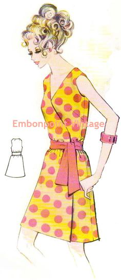 Plus Size or any size Vintage 1969 Dress by EmbonpointVintage, $8,50