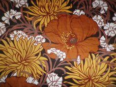 Vintage 1960's Cotton Mix Interiors Fabric Albert Reichert 'Braganza' Poppies in Collectables, Sewing/ Fabric/ Textiles, Fabric/ Textiles, Vintage/ Retro (Pre-1980) | eBay