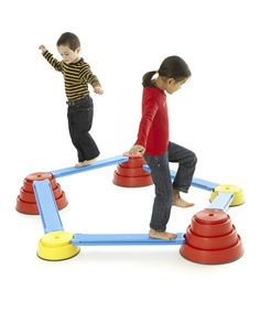 Love this Build 'N Balance Set on #zulily! #zulilyfinds  I want this for the kids!