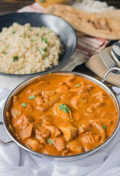 Chicken Tikka Masala- I would use Toffutti yogurt instead of dairy products in this recipe, or cashew milk