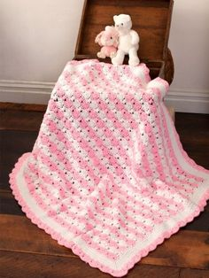 Yarnspirations.com - Caron Peppermint Puff Baby Blanket - Patterns  | Yarnspirations