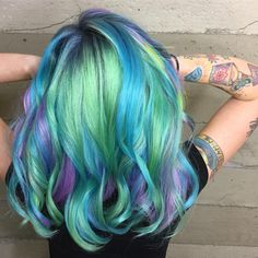 "1,216 Likes, 31 Comments - Los Angeles Hairstylist/Color (@alexisbutterflyloft) on Instagram: ""Tattoo hair colors.  #alexisbutterflyloft @pulpriothair @butterflyloftsalon #pulpriothair"""