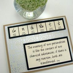 For all our chem friends and their weddings