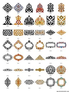 Arabesque Decor Elements Vectorforall