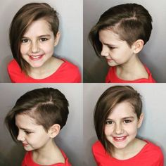 34 Perfect Short Haircuts and Hairstyles for Thin Hair Hair Style Girl girls short hair styles Old Hairstyles, Cool Short Hairstyles, Cute Short Haircuts, Girls Shaved Hairstyles, Short Asymmetrical Hairstyles, Asymmetrical Pixie Cuts, Toddler Hairstyles, Natural Hairstyles, Braided Hairstyles
