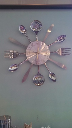New project: homemade kitchen clock. Thanks boalsburg pump station!