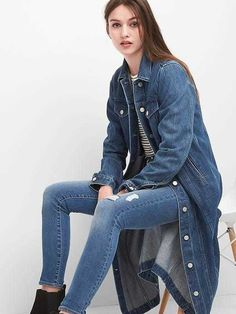 $78.00   Icon denim duster jacket