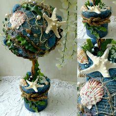 """Купить Топиарий """"Море всегда с тобой"""" - топиарий, Дерево счастья, европейское дерево"""
