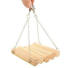 ZGY Funny Flexible Wooden Pet Hamster Mouse Rat Parrot Birds Gerbil Hanging Playing Swing Toy