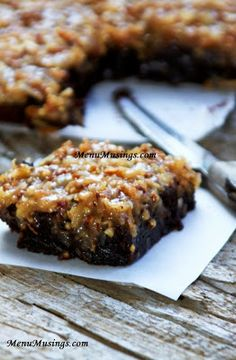 Menu Musings of a Modern American Mom: German Chocolate Brownies