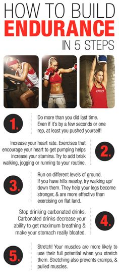 we all need more endurance...try these tips.