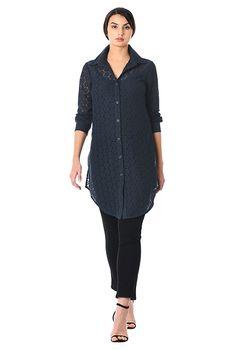 Floral lace long shirt-CL0056404