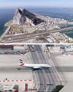 ジブラルタル空港  スペイン南部のイベリア半島にあるイギリス領