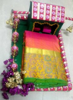 Indian Wedding Tray Decoration First Wedding Card Tray  Trousseau Packing  Pinterest  Wedding