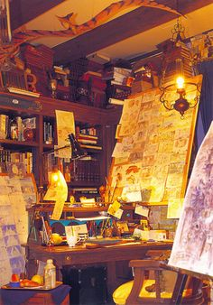 GhibliWorld.com - The Ultimate Ghibli Collection Site - GHIBLI MUSEUM SPECIAL Environment Concept Art, Environment Design, Atelier D Art, Style Retro, Cool Rooms, Studio Ghibli, Art Studios, Cool Art, Mystery