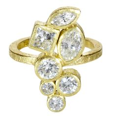 Swooning!!!!    trdr679 | 18ky gold, white princess cut diamonds (2.42ctw)